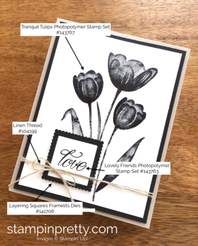 Stampin Up Tranquil Tulips Love Wedding Cards Ideas - Mary Fish StampinUp Supply List