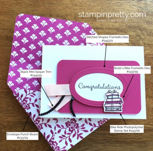 Stampin Up Bike Ride Congratulations Card Idea - Mary Fish StampinUp Supply List