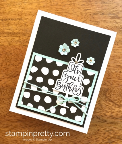 Stampin Up Celebration Time Birthday Card Idea Blue - Mary Fish StampinUp