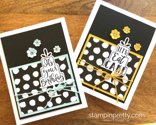 Stampin Up Celebration Time Birthday Card Idea - Mary Fish StampinUp