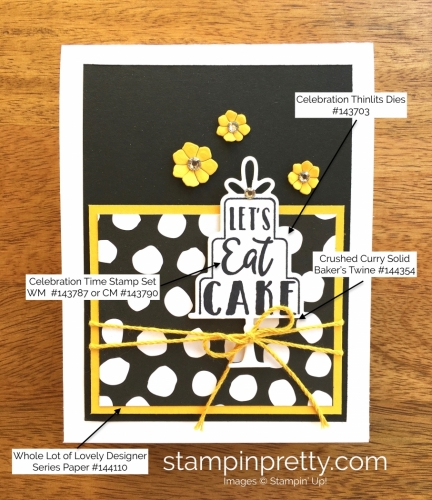 Stampin Up Celebration Time Birthday Cards Idea - Mary Fish StampinUp Supply List