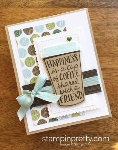 Stampin Up Coffee Cafe Coffee Cup Framelits Dies Friend Card Ideas - Mary Fish StampinUp