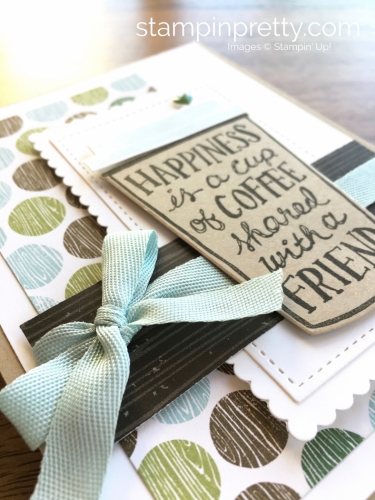 Stampin Up Coffee Cafe Coffee Cup Framelits Dies Friend Cards Idea - Mary Fish StampinUp