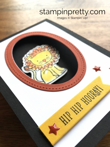 Stampin Up Little Loves A Little Wild Lion Cards - Mary Fish StampinUp