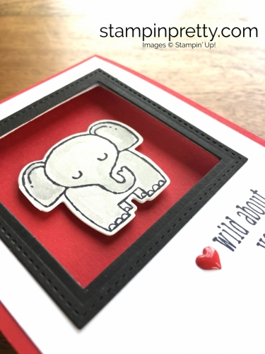 Stampin Up Little Loves Framelits Dies A Little Wild Love Card Idea - Mary Fish StampinUp