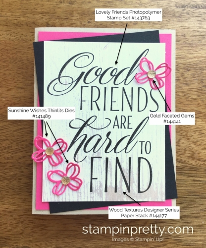 Stampin Up Lovely Friends Butterfly Cards Idea - Mary Fish StampinUp Supply List