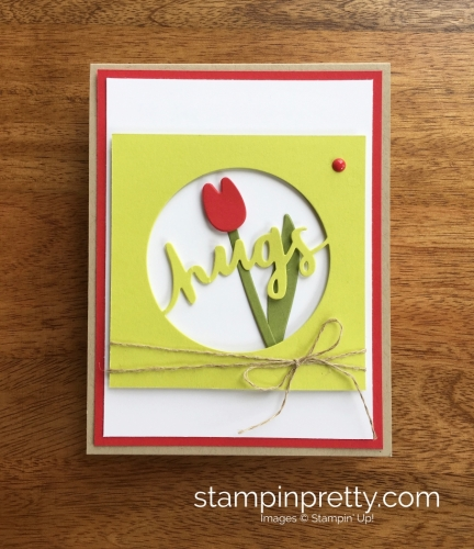 Stampin Up Lovely Words Love Card Idea - Mary Fish StampinUp