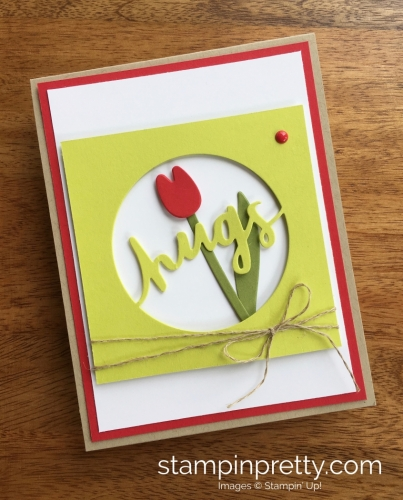 Stampin Up Lovely Words Love Cards Idea - Mary Fish StampinUp