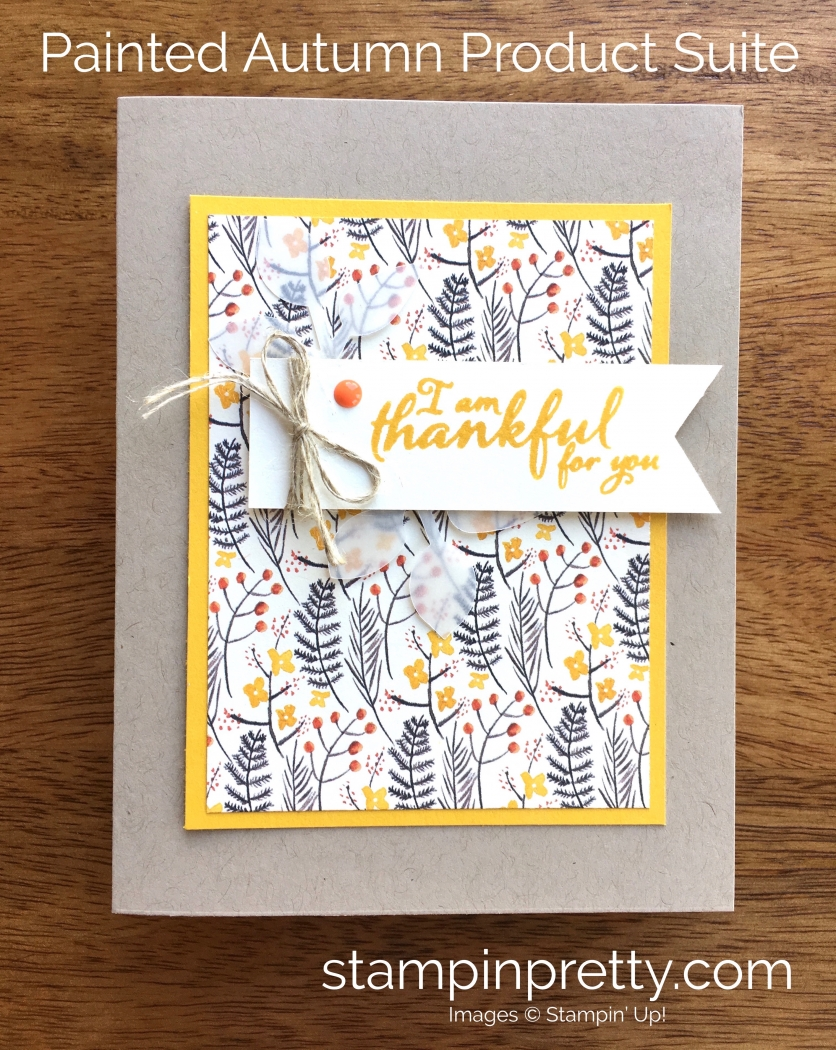 Stampin up holiday catalog sneak peeks stampin pretty stampin up painted harvest thank you card idea mary fish stampinup kristyandbryce Images