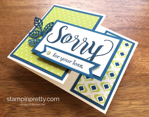 Stampin Up Sorry for Everything Sympathy Card Idea - Mary Fish StampinUp