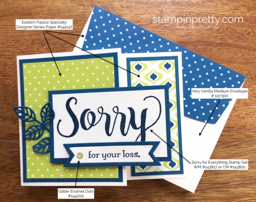 Stampin Up Sorry for Everything Sympathy Cards Idea - Mary Fish StampinUp