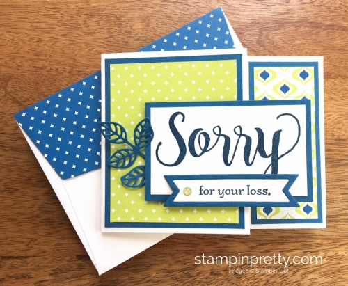 Stampin Up Sorry for Everything Sympathy Cards Ideas - Mary Fish StampinUp