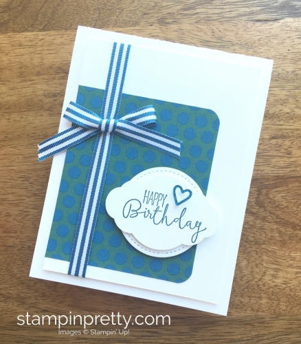 Stampin Up Special Celebrations Birthday Card Idea - Mary Fish StampinUp