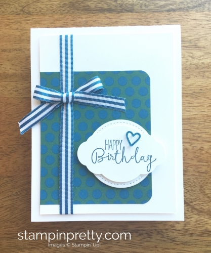 Stampin Up Special Celebrations Birthday Card Idea - Mary Fish StampinUp Supply List