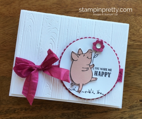 Stampin Up This Little Piggy Thank You Card Idea - Mary Fish StampinUp