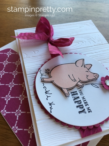 Stampin Up This Little Piggy Thank You Card Ideas - Mary Fish StampinUp
