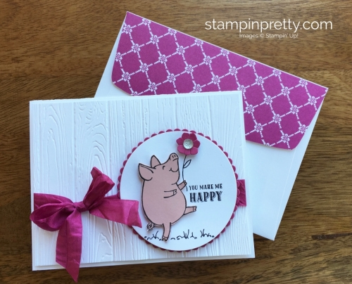 Stampin Up This Little Piggy Thank You Cards Idea - Mary Fish StampinUp