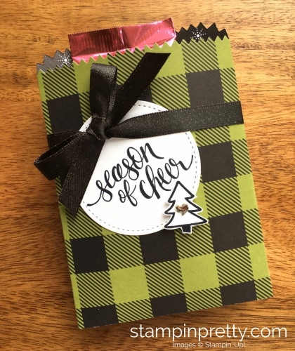 Stampin Up Watercolor Christmas Mini Treat Bag Gift Ideas - Mary Fish StampinUp