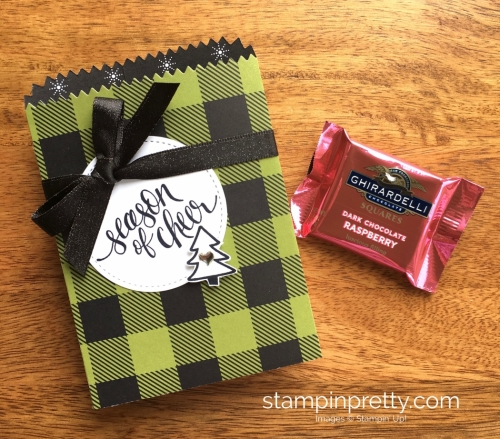 Stampin Up Watercolor Christmas Mini Treat Bag Gifts Idea - Mary Fish StampinUp