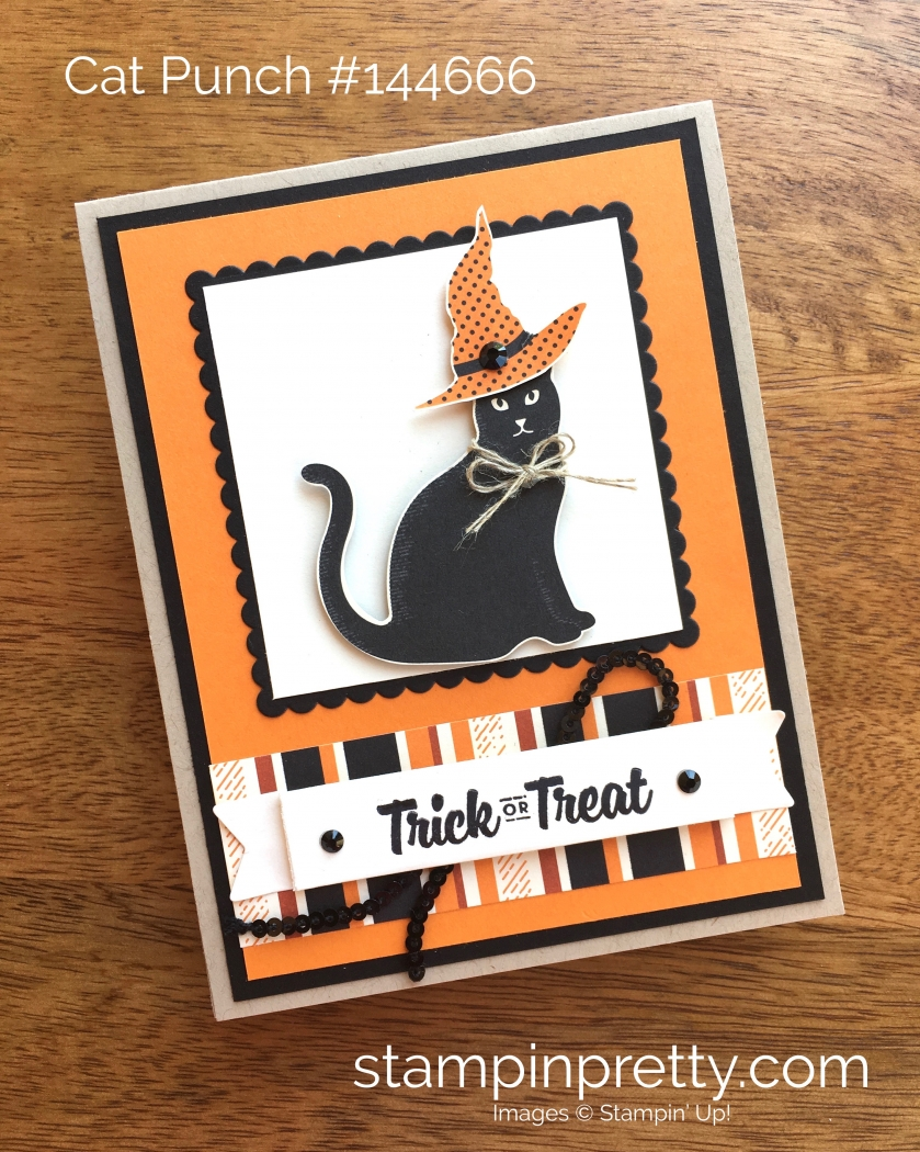 Stampin Up Cat Punch Halloween Card Idea