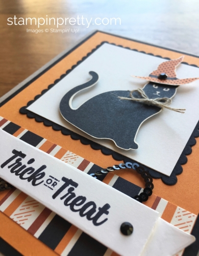 Stampin Up Cat Punch Halloween Card Idea Trick or Treat - Mary Fish StampinUp