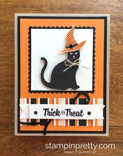 Stampin Up Cat Punch Halloween Cards Ideas - Mary Fish StampinUp