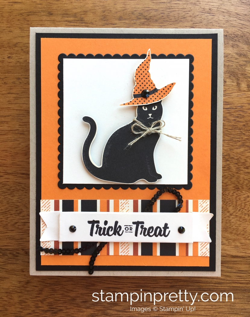 Stampin Up Cat Punch Halloween Cards Ideas