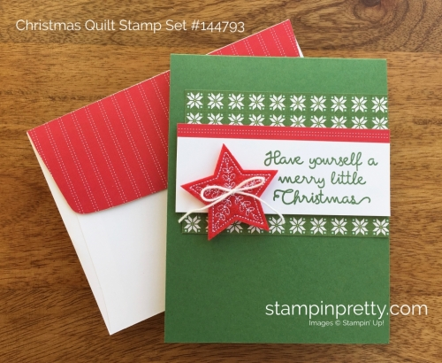 Stampin Up Christmas Quilt Simple Holiday Card Ideas - Mary Fish StampinUp