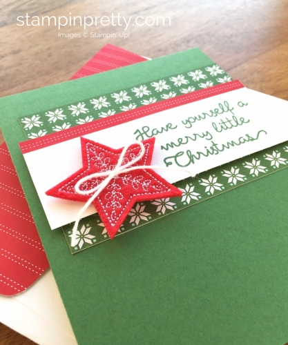 Stampin Up Christmas Quilt Simple Holiday Cards Idea - Mary Fish StampinUp