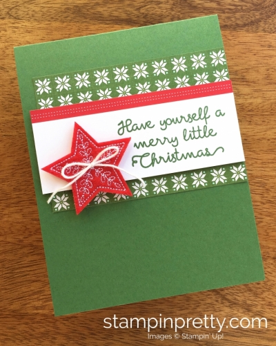 Stampin Up Christmas Quilt Simple Holiday Cards Ideas - Mary Fish StampinUp