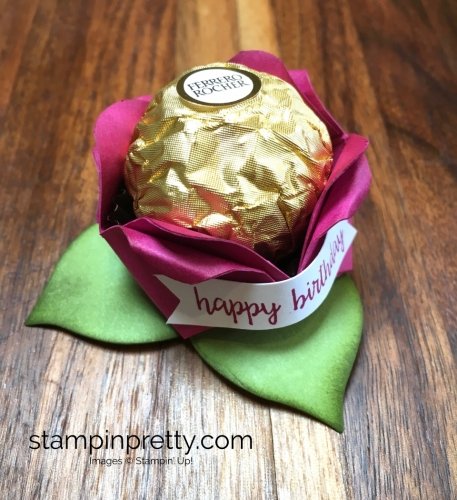 Stampin Up Ferrero Rocher Rose Birthday Place Setting - Mary Fish Stampin' Up! Berry Burst