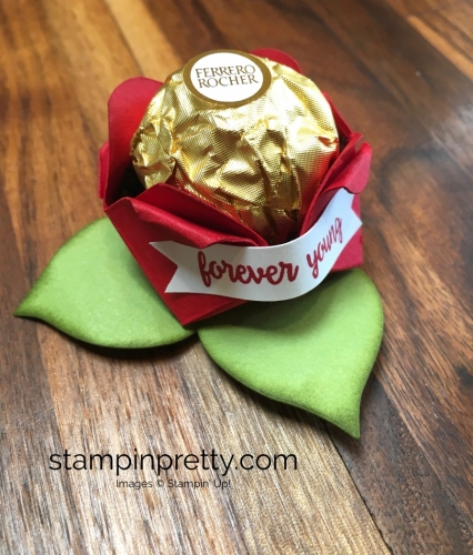 Stampin Up Ferrero Rocher Rose Birthday Place Setting - Mary Fish Stampin' Up! Real Red