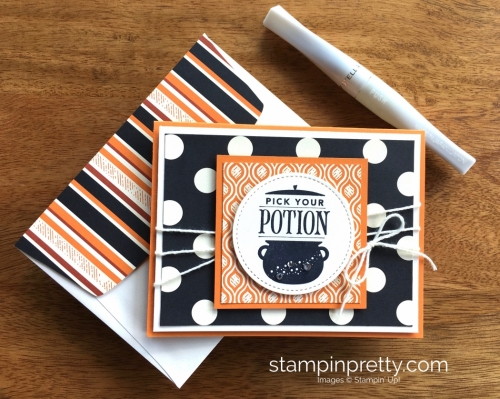 Stampin Up Festive Phrases Halloween Cards Idea - Mary Fish StampinUp
