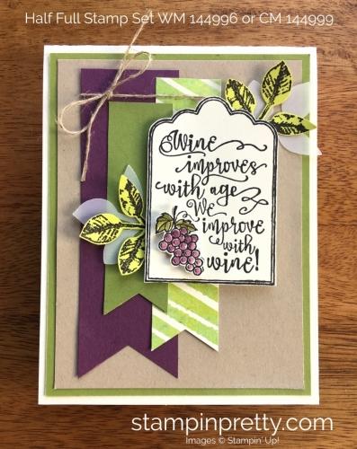 Cheers to a Sneak Peek of Half Full Stamp Set!