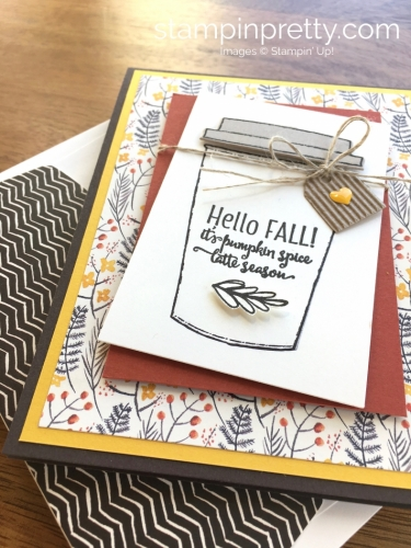 Stampin Up Merry Cafe Coffee Cups Framelits Dies Fall Card Ideas - Mary Fish StampinUp