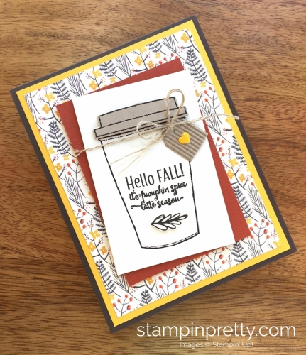 Stampin Up Merry Cafe Coffee Cups Framelits Dies Fall Cards Idea - Mary Fish StampinUp