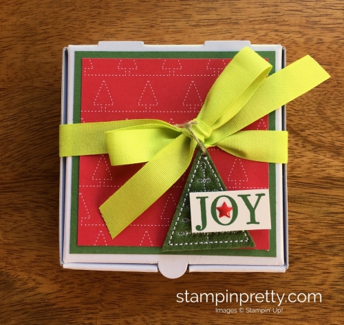Stampin Up Mini Pizza Box Holiday Christmas Gift Ideas - Mary Fish StampinUp