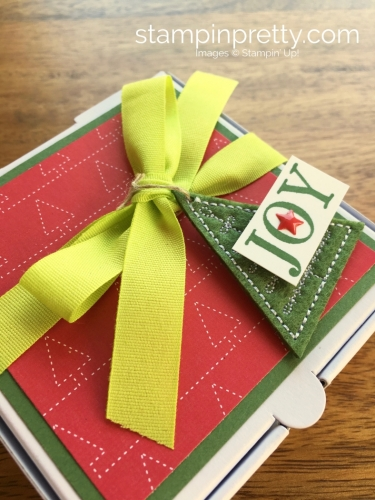 Stampin Up Mini Pizza Box Holiday Christmas Gifts Idea - Mary Fish StampinUp