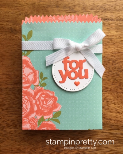 Stampin Up Mini Treat Bag Thinlit Dies Petal Garden - Mary Fish StampinUp