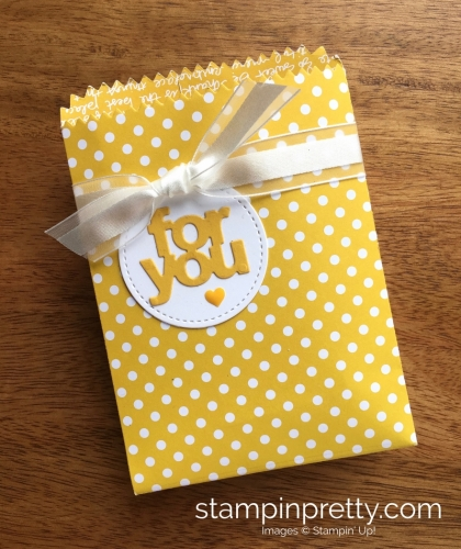 Stampin Up Mini Treat Bags Thinlits Dies Petal Garden - Mary Fish StampinUp