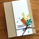 Patterned Pumpkin Thinlits Dies Congrats Card