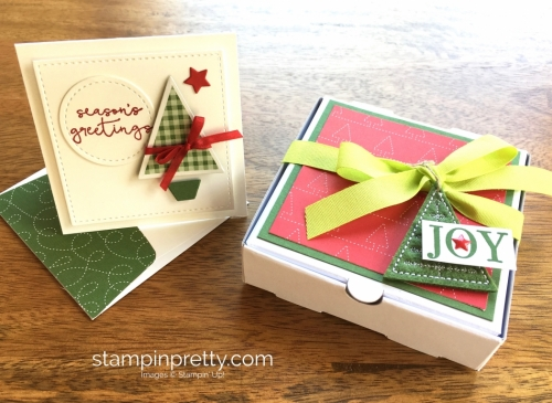 Stampin Up Stitched Shapes Framelits Dies 3 x 3 Holiday Card Ideas - Mary Fish StampinUp
