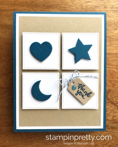 Stampin Up Wood Crate Framelits Dies Thank You Card Idea - Mary Fish StampinUp
