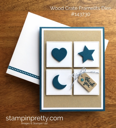 Stampin Up Wood Crate Framelits Dies Thank You Card Ideas - Mary Fish StampinUp