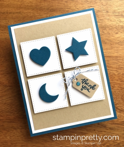 Stampin Up Wood Crate Framelits Dies Thank You Cards Ideas - Mary Fish StampinUp