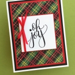 Simple Saturday Holiday Card with Watercolor Christmas