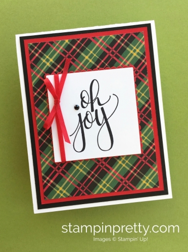 How to Create a Simple Holiday Card Using Watercolor Christmas - Mary Fish at stampinpretty.com