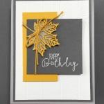 A Modern Spin on an Autumn Birthday Card
