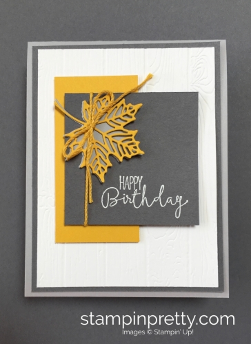 How to create a simple birthday card using seasonal layers dies - by Mary Fish