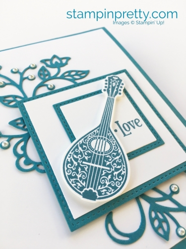 How to create a simple love card using Stampin' Up! Musical Season